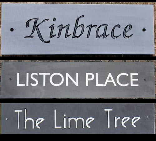 "Online Sign Maker | Standard Slate House Signs 4"" High"